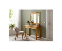 Home affaire Schminktisch »Rauna« (Set, 2 St., Schminktisch mit Spiegel), beige