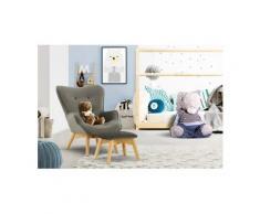 Lüttenhütt Sessel »Duca Mini«, in kleiner Ausführung für Kinder, grau, Samtoptik