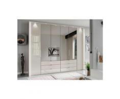 WIEMANN Falttürenschrank »Kansas« mit Spiegel und Glas, beige, 300 cm x 217 cm x 58 cm
