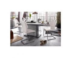 Homexperts Essgruppe »Bärbel/Amelie«, Breite 160 cm mit Auszug und 4 Stühle, grau