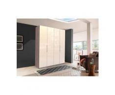 WIEMANN Falttürenschrank »Loft« Glasfront, beige, 200 cm x 236 cm x 58 cm