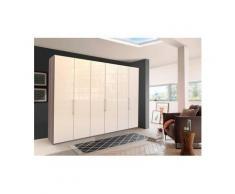 WIEMANN Falttürenschrank »Loft« Glasfront, beige, 300 cm x 216 cm x 58 cm