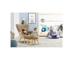 Lüttenhütt Sessel »Duca Mini«, in kleiner Ausführung für Kinder, braun, Samtoptik