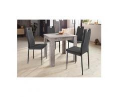 HELA Essgruppe »RONJA G«, (Set, 5-tlg), bestehend aus einem Tisch und 4 Stühlen, grau
