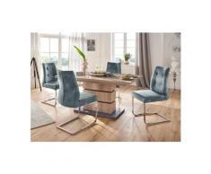 Homexperts Essgruppe »Bonnie«, Breite 140 cm mit Auszug und 4 Stühlen, blau