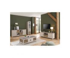 Home affaire Lowboard »Georgina«, mit 2 Türen, 2 offene Fächer und 1 Korb, Breite 170 cm cm, beige