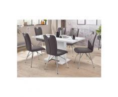 HELA Essgruppe »CLEO G«, (Set, 5-tlg), bestehend aus einem Tisch ausziehbar und 4 Stühlen, grau