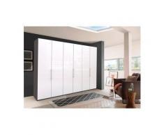 WIEMANN Falttürenschrank »Loft« Glasfront, weiß, 300 cm x 216 cm x 58 cm