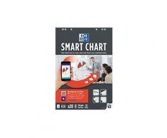 OXFORD Flipchart-Block Smart Chart Euro 90 g/m² Kariert 3 Stück à 20 Blatt