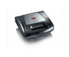 Severin SA 2968 Sandwich-Toaster, Grill und Waffeleisen herausnehmbare Wechselplatten 1000 W Edelstahl-gebürstet-schwarz 2968
