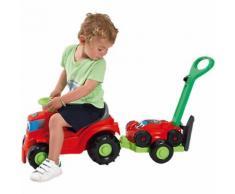 Kindertraktor mit Anhänger Rasenmäher rot