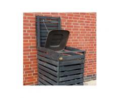 promadino mülltonnenbox für 1x120 l aus holz b/t/h: 68/63/111 cm