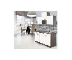 respekta küchenzeile b 150 cm mit elektrogeräten kühlschrank eiche york korpus