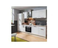 menke küchenzeile »matrix« b 280 cm mit elektrogeräten geschirrspüler kühlschrank