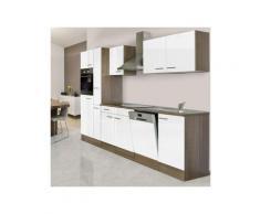 respekta küchenzeile b 310 cm mit 2er kochfeld inklusive kühlschrank eiche york