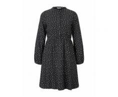 TOM TAILOR Damen Kleid mit Knopfleiste, schwarz, Gr.34