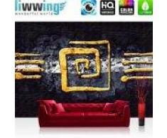"""liwwing (R) Vlies Fototapete """"No. 219""""   Vliestapete Abstrakt Ornament Gelb Schwarz Hindergrund liwwing (R) 350x245cm - Vlies PREMIUM PLUS"""