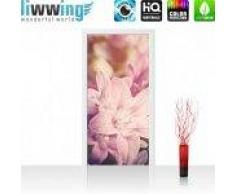 "liwwing (R) Tür Fototapete ""no. 195""   100x211 cm   Blumen Blüte Natur Rosa liwwing (R) 100x211cm   Vlies PREMIUM PLUS"