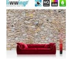 "liwwing (R) Vlies Fototapete ""No. 149""   Vliestapete Steinwand Steinoptik Steine Wand Mauer Steintapete liwwing (R) 300x210cm - Vlies PREMIUM PLUS"