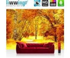 """liwwing (R) Vlies Fototapete """"Autumn Leaves""""   Vliestapete Herbstblätter Wald Bäume Baum eg Forest Herbst liwwing (R) 400x280cm - Vlies PREMIUM PLUS"""