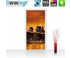 "liwwing (R) Tür Fototapete Türtapete ""no. 670""   91x211 cm   Toronto Skyline Night liwwing (R) 91x211cm   Vlies PREMIUM PLUS"