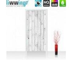 "liwwing (R) Tür Fototapete ""White painted Wooden Wall""   100x211 cm   Holzoptik Holzwand, Holzpaneel liwwing (R) 100x211cm   Vlies PREMIUM PLUS"