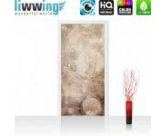 "liwwing (R) Tür Fototapete ""no. 193""   100x211 cm   Abstrakt Seifenblasen Entspannung Beige liwwing (R) Folie (selbstkl.) 100x211cm   PREMIUM PLUS"