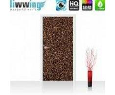 "liwwing (R) Tür Fototapete ""no. 177""   100x211 cm   Kaffee Kaffeebohnen Braun Aromatisch liwwing (R) 100x211cm   Vlies PREMIUM PLUS"