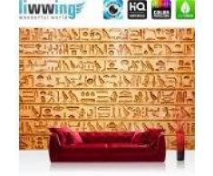 """liwwing (R) Vlies Fototapete """"No. 180""""   Vliestapete Hyroglyphen Alt Abstrakt Ornamente Symbole liwwing (R) 400x280cm - Vlies PREMIUM PLUS"""