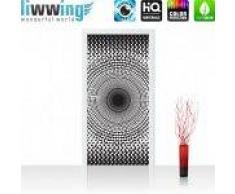 "liwwing (R) Tür Fototapete Türtapete ""no. 403""   91x211 cm   Abstrakt Ornamente Punkte Kreis liwwing (R) Folie (selbstkl.) 91x211cm   PREMIUM PLUS"