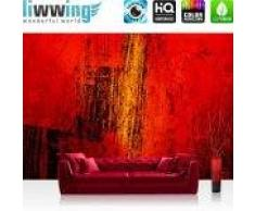 "liwwing (R) Vlies Fototapete ""Paint it Red""   Vliestapete abstrakt 3D Wand Rot braun Hintergrund liwwing (R) 400x280cm - Vlies PREMIUM PLUS"