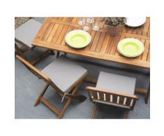 Gartenstuhl braun Holz 2er Set CENTO