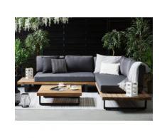 Gartenmöbel Set zertifiziertes Holz grau MYKONOS