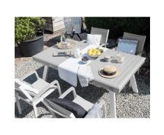 Gartentisch grau ausziehbar 175/255 x 100 cm PERETA