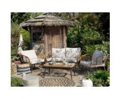 Gartenmöbel Set Rattan beige CORINTH