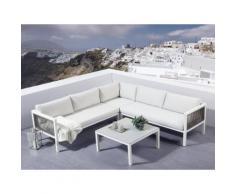 Lounge Set Rattan Aluminium 4-Sitzer BORELLO