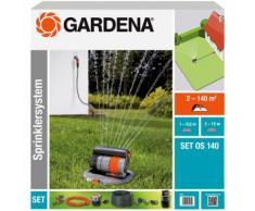 Gardena Sprinklersystem OS 140 Set mit Versenk-Viereckregner