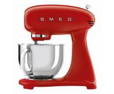 Küchenmaschine Retro Style 50`s, 4,8L Rührschüssel, Planeten-Rührwerk, Full-Color, rot