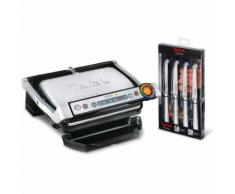 Kontaktgrill GC702MS.99 OptiGrill mit Steakmesser-Set