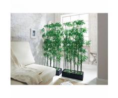 Kunstpflanze 'Raumtrenner Bambus', Grün, Kunststoff