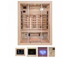 HOME DELUXE Infrarotkabine »Sahara L«, B/T/H: 150/120/190 cm, mit Dachkranz, für bis zu 3 Personen