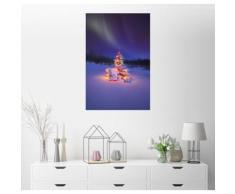 Posterlounge Wandbild - Carson Ganci »Weihnachtsbaum und Nordlicht«