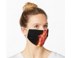 Feuerschale in der Nacht Maske