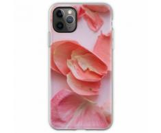 Zarte rosa Rosenblätter Flexible Hülle für iPhone 11 Pro Max