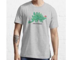 Dinosaurier mit Weihnachtsbeleuchtung Essential T-Shirt