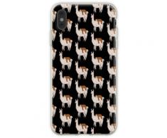 Lustige Trägheit, die auf Lama-Freund-Fliesen-Muster schläft Flexible Hülle für iPhone XS Max