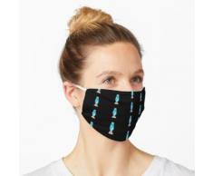 Hellblaue Lavalampe Maske