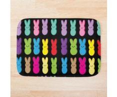 Bunte Osterhasen-Ostern-Süßigkeits-Kaninchen Badematte