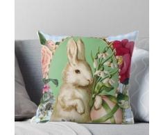 Nette Weinlese-Osterhasen-Kaninchen-Collage Kissen