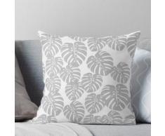 Monstera // tropische Zimmerpflanze Minze weiß botanische andrea lauren Kissen